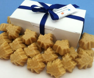 Maple sugar candies and gift box