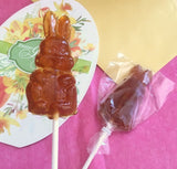 Hard maple candy bunny lollipop
