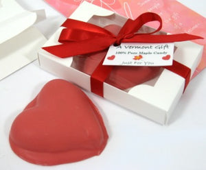 Pink Chocolate-Dippped Maple Sugar Candy Heart