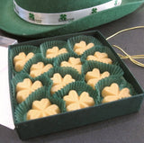 Vermont Maple Sugar Candy SHAMROCKS, 12-piece Gift Box