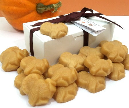 Maple candy turkeys and gift box