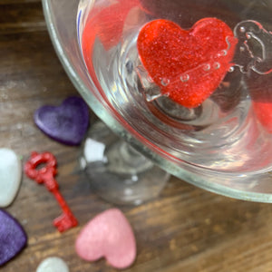 Edible Sugar Art Drops Candy Hearts for Drinks