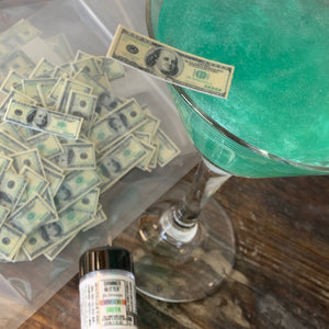 Mini Edible $100 Bill Money Drink Rim Details