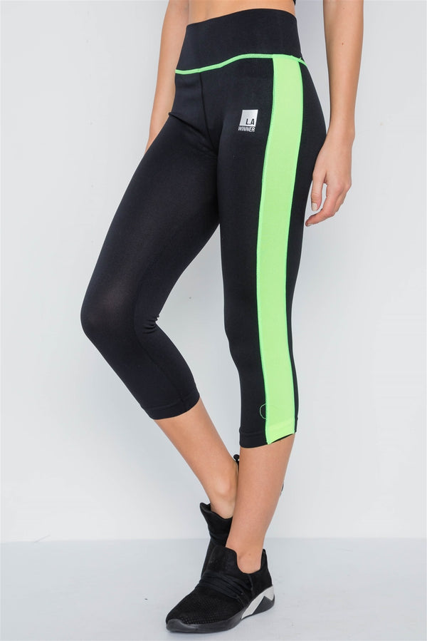 Contrast Stripe Active Sporty Leggings - Elite5999.com