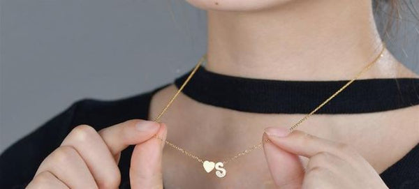 A-Z Heart Initial Stainless Steel Necklace - Elite5999.com