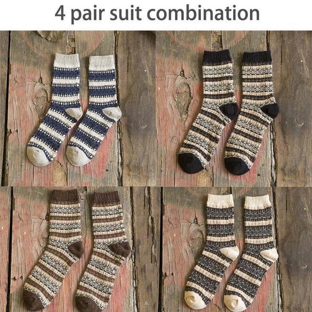 Wool Blend Winter Socks