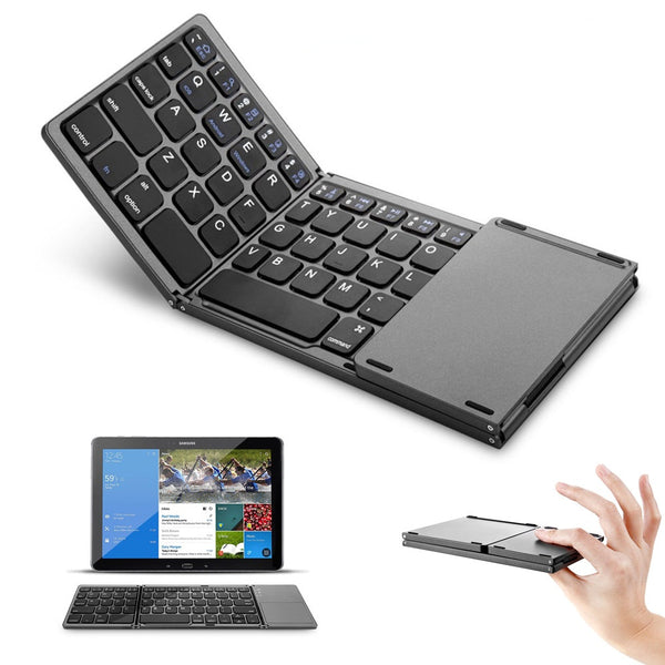 Foldable Bluetooth Keyboard w/ Touchpad - Elite5999.com