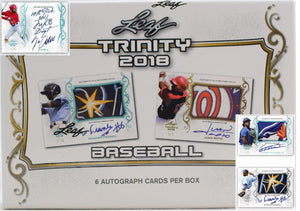 2018 Leaf Trinity Baseball 2 Box Break, 12 total on card auto's! RT #1 - Major League Cardz