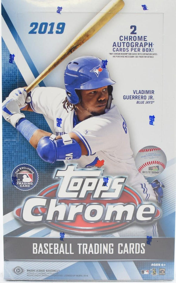 2019 Topps Chrome Baseball Hobby Box  PACK WARS - Lowest card wins the box! #1 - Major League Cardz