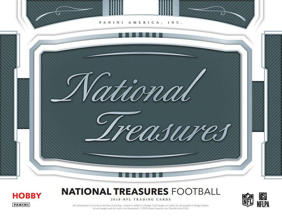 2018 Panini National Treasures Football Hobby Box - Random Teams #1 - Major League Cardz