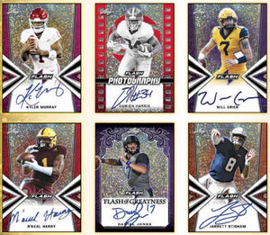 $5 BUCK BREAK - 2019 Leaf Flash Football Hobby Box, 5 hits all auto's! - Major League Cardz