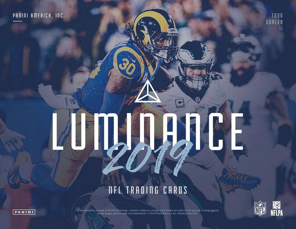 2019 Panini Luminance Football Hobby Box Random Divisions #3 - 4 hits w/ 3 auto's! - Major League Cardz