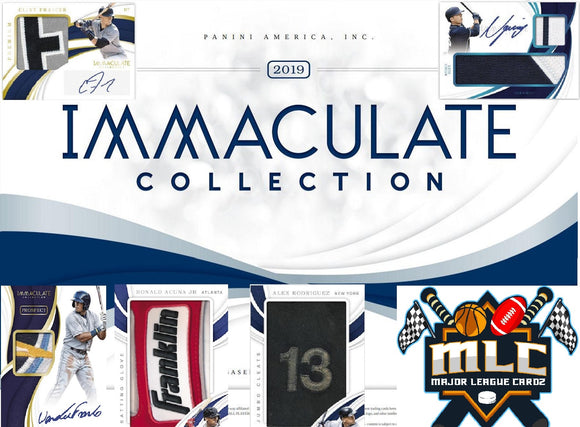 2019 Panini Immaculate Baseball 2 box 1/4 case PYT #10 - Major League Cardz