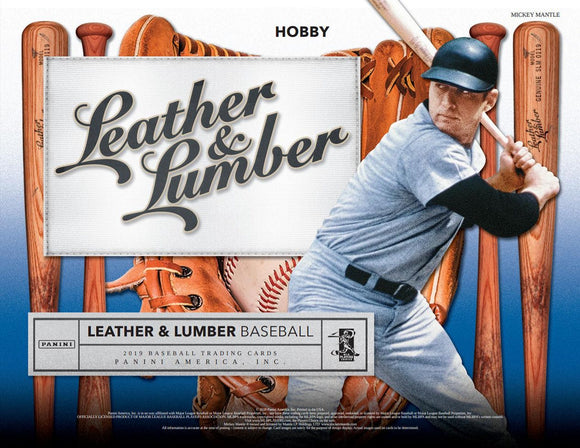2019 Panini Leather & Lumber Baseball Box- 4 auto's & 4 memorabilia cards! 2 RT #5 - Major League Cardz
