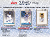 2019 Topps Clearly Authentic Baseball 20 Box Case PYT #4 - Major League Cardz