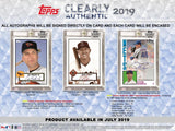 2019 Topps Clearly Authentic Baseball Hobby Box - Personal Break Ripped & Shipped - Major League Cardz