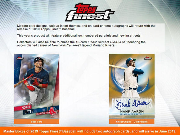 2019 Topps Finest Baseball Hobby Box Personal Break - Ripped & Shipped! - Major League Cardz