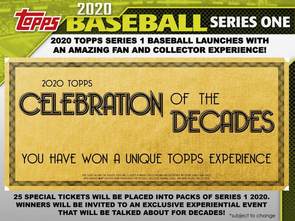Pre-order at the lowest price! 2020 Topps Series 1 Baseball Hobby 12 Box Case - Major League Cardz