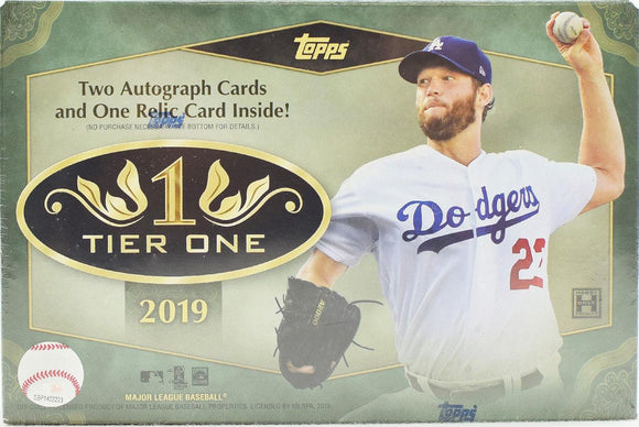 2019 Topps Tier One Baseball FULL CASE, 12 box break - Pick-Your-Team #8 - Major League Cardz