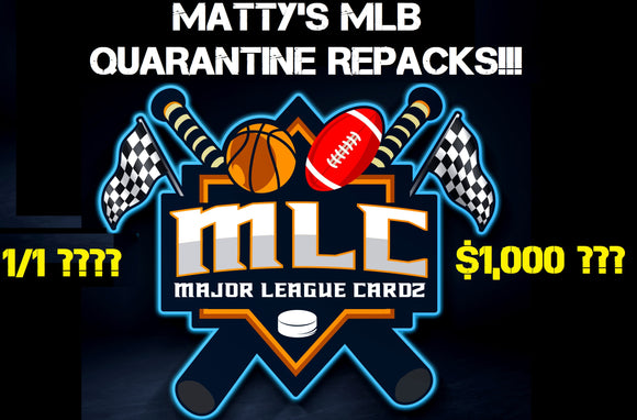 $1,000 GIVEAWAY!!! Matty's MLB Quarantine Repack Case Break - RT #10 - Major League Cardz