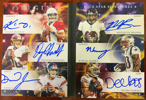 OWN IT FOR $25!! (READ) - '19 Panini Origins 6 Star Signatures Book #3/5 - Murray, Haskins, Jones, Brown, Harry, Samuel - Major League Cardz