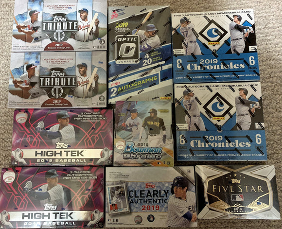 Matty's 2019 Topps/Panini Baseball 10-Box Mixer - Pick-your-team - Major League Cardz