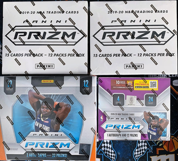 2019-20 Prizm Basketball 4-Box Mixer: 2x CELLO, 1x Hobby & Retail - RT #1 - Major League Cardz