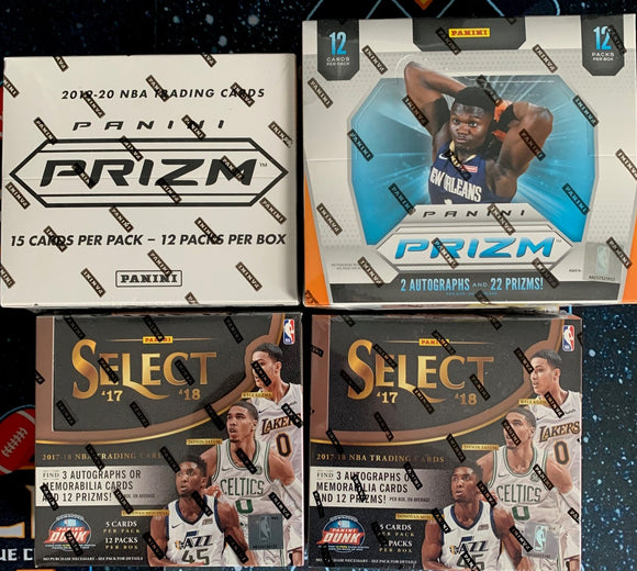*PROMO* SELECT PRIZM MIXER! Kobe & Zion Hunt: 19-20 Prizm Hobby/Cello & 17-18 SELECT Hobby x2 - RT - Major League Cardz