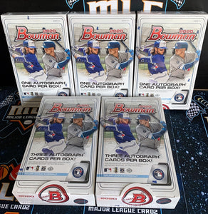 2020 Bowman Baseball 5 Box Mixer (3 Hobby & 2 Jumbo) - PYT #1 - Major League Cardz