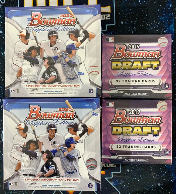 19 Bowman Draft Sapphire & 20 Bowman Sapphire 4 Box Mix - PYT #1 - Major League Cardz