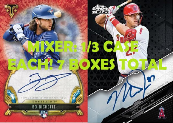 Mixer! 1/3 Case Each 2020 Triple Threads & Chrome Black (7 boxes total) - PYT #1