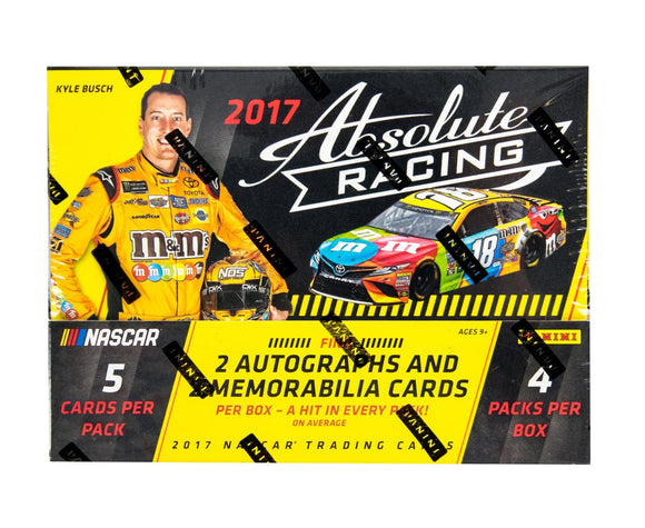 2017 Panini Absolute NASCAR Racing 1/2 Case, 7 Box Break - 5 Random, Grouped Drivers #2 - Major League Cardz