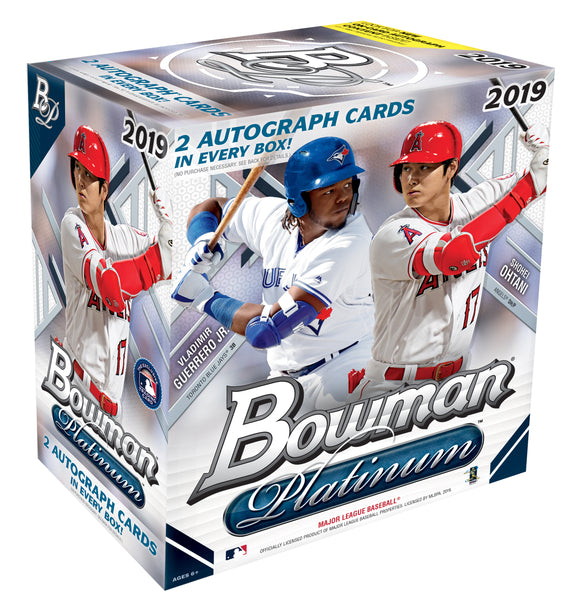 2019 Bowman Platinum Baseball Monster Box x 4, 2 RT's per spot! - Major League Cardz