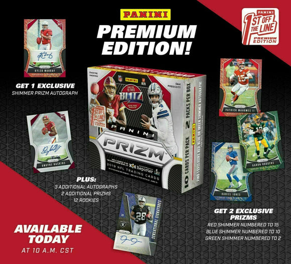 2019 Panini Prizm Football FOTL 4 Box Break + 2019 Leaf Auto Jersey x2 - PYT #1