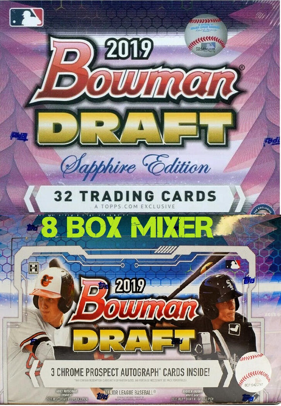 2019 Bowman Draft Baseball Mixer 4 Jumbo Box & 4 Sapphire Box - PYT #1 - Major League Cardz