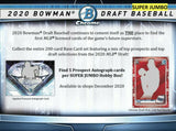 2020 Bowman Draft Baseball SUPER Jumbo 6 Box Case - PYT #2 - Major League Cardz