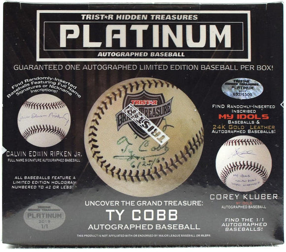 2019 Tristar Hidden Treasures Platinum Auto'd Baseballs x 1 - Random Divisions #3 - Major League Cardz