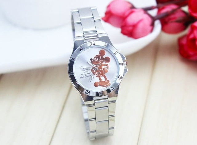 New Fashion  wristwatches quartz watch women rhinestone dress watches mickey watch kids watch