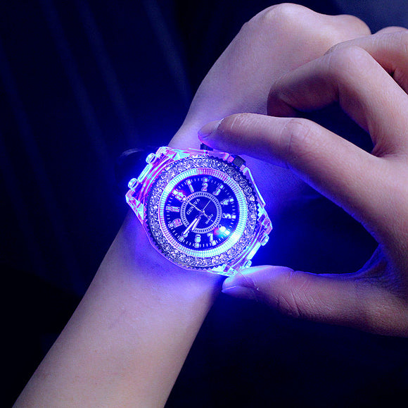 2017 Geneva Luminous LED Sport Watches Women Quartz Watch ladies Women Silicone Wristwatches Relogio Feminino Relojes Mujer