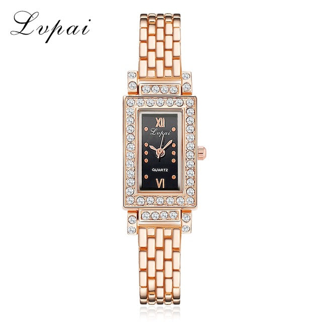 2017 New Women Bracelet Watches Rectangle Crystal Dress WristWatch For Ladies Luxury Stainless Steel Quartz Watch Women Clock