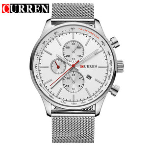 CURREN Men's Quartz Watches Fashion Casual Full Steel Sports Watches Men Business relojes Quartz watch  Relogio Masculino 8227