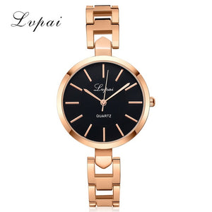 Women Luxury Bracelet Watch LVPAI Fashion Brand Rose Gold Quartz WristWatches Ladies Dress Sport Watch Clock Dropshiping LP106
