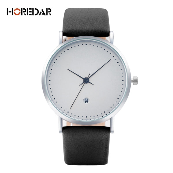HOREDAR High Quality Quartz Watch Auto Calendar Leather Watches Women 2017 Luxury Top Brand Wristwatch Waterproof Clock