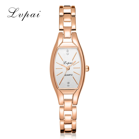 2017 New Lvpai Brand Luxury Rose Gold Quartz-Watches Women Fashion Bracelet Watch Ladies Simple Dress Business Wristwatch LP104