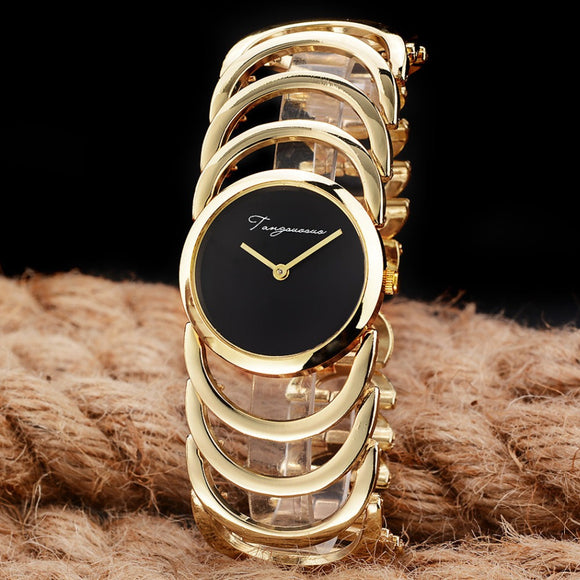 2017 New Luxury Brand Women Quartz Watches montre femme Gold Design Bracelet Watches Ladies Women Watch reloj muje Clock