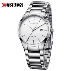 Curren Top Brand Business Men Male Luxury  Watch Casual Full steel Calendar  Wristwatches quartz watches relogio masculino
