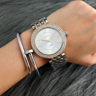 CONTENA Rose Gold Watch Women Watches Rhinestone Women's Watches Ladies Watch Clock bayan saat montre femme relogio feminino