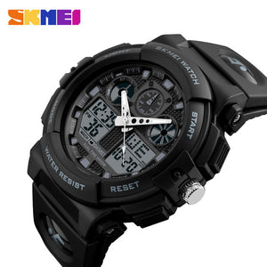 SKMEI Men Sports Watch Male Quartz Analog Watches Electronic Dual Display Wristwatches Relojes Watwrproof Relogio Masculino 1270