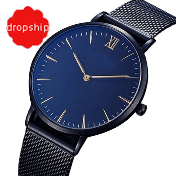 Fashion Casual watches Womens Men Fashion Classic Gold Geneva Quartz Stainless Steel Wrist Watch For Dropshipping