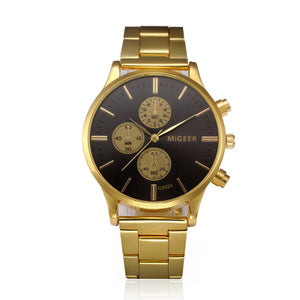 2018 Fashion Reloj Hombre Watch Man Luxury Brand Vintage Gold Wristwatch Date Mens Classic Reloj Hombre Saatler Gift